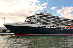Cruise Ship MS Queen Victoria in morning light in Venice Stock Image
