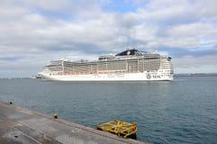 MSC Preziosa cruiser on sea Royalty Free Stock Photos