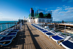 Cruise ship MV Arcadia. After deck view on MV Arcadia Stock Photography