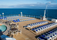 Cruise ship MV Arcadia. View of the after deck on MV Arcadia Royalty Free Stock Photos