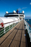 Cruise ship MV Arcadia. View of the after deck on MV Arcadia Royalty Free Stock Image