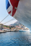 Cruise ship MV Azura in the port of Monaco. Monaco, Monaco - July 30, 2016: cruise ship MV Azura in the port of Monaco. MV Azura is the second largest of eight Royalty Free Stock Image