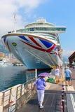 Cruise ship MV Azura in the port of Monaco Royalty Free Stock Photos