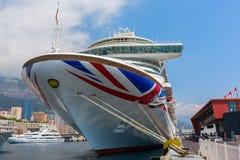 Cruise ship MV Azura in the port of Monaco Royalty Free Stock Image