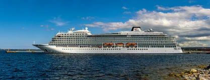 Cruise ship MV Viking Sky of the Viking Ship Fleet Viking Ocean Cruises docked in Vanasadam Tallinn Harbour royalty free stock images