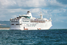 Cruise ship in navigation Stock Image