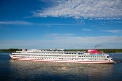 Cruise ship near the island of Kizhi in Lake Onega in Karelia, Russia Stock Images