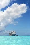 Cruise Ship Near Shore Stock Image
