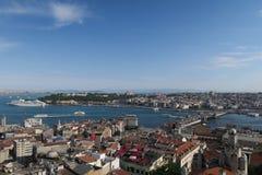 Cruise Ship Near Topkapi Palace at the Golden Horn - Bosporus - in Istanbul, Turkey Stock Images