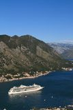 Cruise ship near the town of Kotor. Montenegro. September 23, 20 Stock Images
