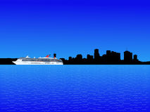 Cruise ship and New Orleans Royalty Free Stock Photos