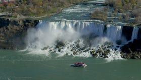 Cruise ship at Niagara fall Royalty Free Stock Image