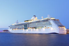 Cruise Ship Night Stock Photography