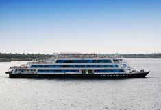 Cruise ship on the Nile river, Egypt Nile cruise. Africa stock photography