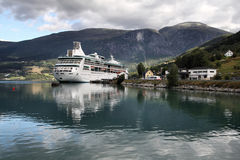 Cruise ship, Norway Stock Images