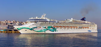 Cruise ship Norwegian Jade Royalty Free Stock Image