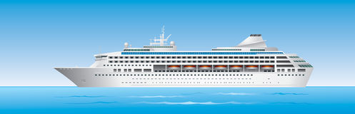 Cruise Ship in ocean Stock Photo