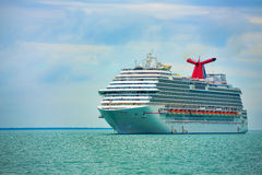Cruise Ship. On the ocean, close to Belize Stock Image