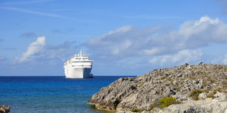 Cruise ship off the bahamas Stock Photo