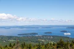 Cruise Ship off Coast of Maine Royalty Free Stock Photo