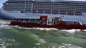 Cruise ship off the coast stock video