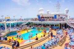 Free Cruise Ship On The Mediterranean Stock Photo - 85037290