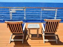 Cruise ship open deck Stock Photos