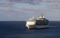 Cruise ship in open sea Stock Photography