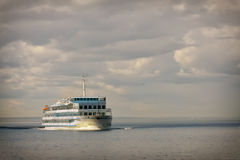Cruise ship in open water Stock Photo