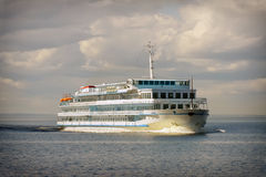 Cruise ship in open water Royalty Free Stock Photos