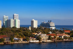 Cruise Ship out to Sea Stock Photography