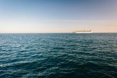 Cruise ship in the Pacific Ocean, seen in Santa Barbara, Califor Royalty Free Stock Photo