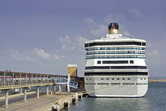 Cruise ship in Palma Stock Images