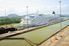 Cruise Ship, Panama Canal Stock Image
