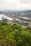 Cruise ship in Panama Canal Royalty Free Stock Images