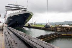 Cruise ship in Panama Canal Stock Photo