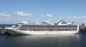 Cruise ship parked in Fort Lauderdale Stock Photos
