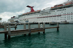 Cruise Ship. Parked at Mallory Square on Key West, Florida Royalty Free Stock Photos