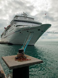 Cruise Ship. Parked at Mallory Square on Key West, Florida Stock Photo