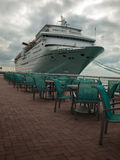 Cruise Ship. Parked at Mallory Square on Key West, Florida Stock Image