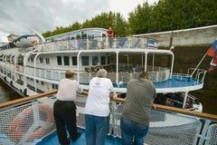 Cruise ship passangers Royalty Free Stock Photo