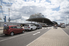 Cruise ship and passenger terminal Southampton UK Royalty Free Stock Image
