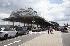 Cruise ship and passenger terminal Southampton UK Royalty Free Stock Photography