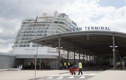 Cruise ship and passenger terminal Southampton UK Stock Photos