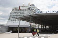 Cruise ship and passenger terminal Southampton UK Stock Image