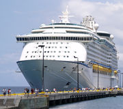 Cruise Ship and Passengers Royalty Free Stock Photos