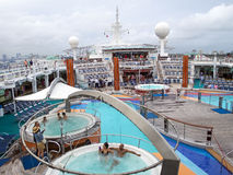 Cruise Ship Passengers Enjoying Deck Activities Stock Image