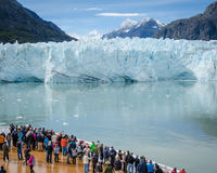 Cruise ship passengers in Glacier Bay National Park Stock Images