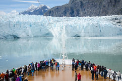 Cruise ship passengers in Glacier Bay National Park Royalty Free Stock Photography