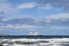Cruise ship in patagonia. South America Royalty Free Stock Photography